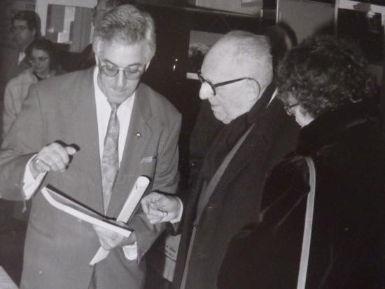 avec Maurice Schuman, Morbecque