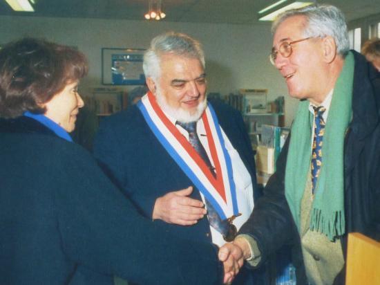 Inauguration de la bibliothèqiue F et D Mitterrand, à Bailleul