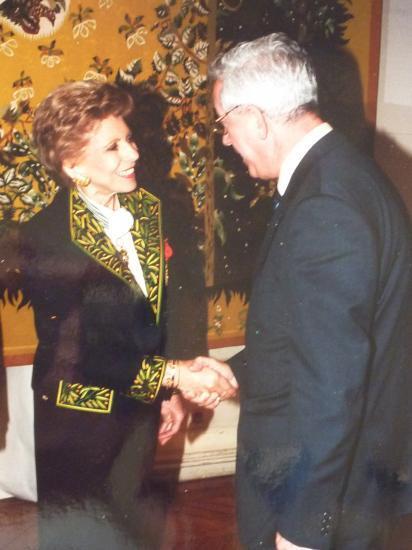 Avec Hélène Carrère d'Encausse, à l'Académie française