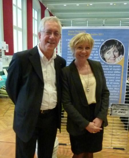 Avec Annie Degroote, romancière (ph Anny Messiant)