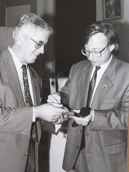 avec Bruno Dewaele, champion du monde d'orthographe